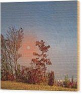 The Hazy Horizon. Wood Print