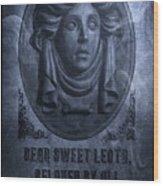 The Headstone Of Madame Leota Wood Print