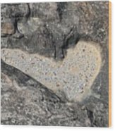 The Heart In Stone Wood Print
