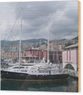 The Heart Of Genova. Wood Print