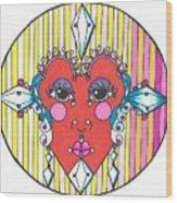 The Heart Queen Wood Print