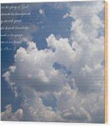 The Heavens Declare The Glory Of God Wood Print
