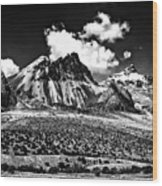 The High Andes Monochrome Wood Print