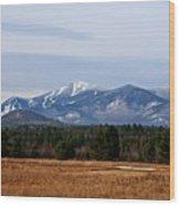 The High Peaks Wood Print