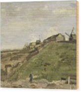 The Hill Of Montmartre With Stone Quarry 2 Wood Print