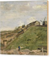The Hill Of Montmartre With Stone Quarry Wood Print