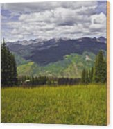 The Hills Are Alive In Vail Wood Print