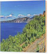The Hills Of Crater Lake Oregon Wood Print