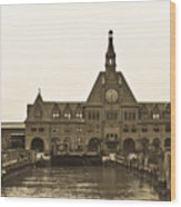 The Historic Crrnj Train Terminal Wood Print