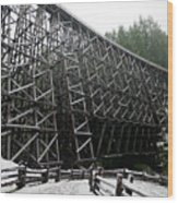 The Historic Kinsol Trestle 3. Wood Print