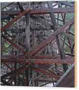 The Historic Kinsol Trestle  Inside View Wood Print