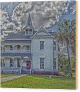 The Historic Rabb Plantation Home Wood Print