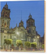 The Historical Mexico City Metropolitan Cathedral Wood Print