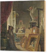 The History Painter Wood Print