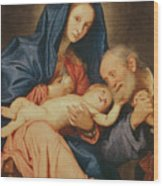The Holy Family With A Basket  Wood Print