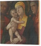 The Holy Family With Saint Mary Magdalen 1500 Wood Print