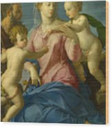 The Holy Family With The Infant Saint John The Baptist, Madonna Stroganoff  Wood Print