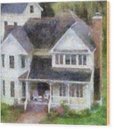 The Homes Of Mackinac Island Michigan 02 Pa Wood Print