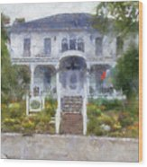 The Homes Of Mackinac Island Michigan 04 Pa Wood Print