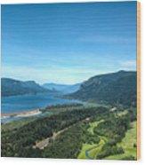 The Hood River  Wood Print