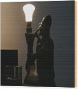 The Hookah Lamp Wood Print
