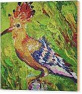 The Hoopoe Wood Print