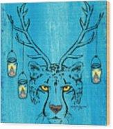 The Horned Cheetah Wood Print