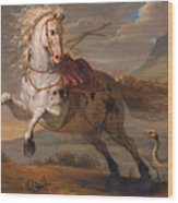 The Horse And The Snake Wood Print