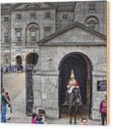 The Horse Guard At Whitehall Wood Print