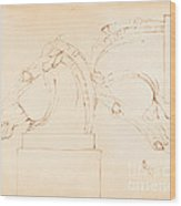 The Horse Of Selene From The Elgin Marbles [recto] Wood Print