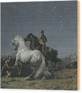 The Horse Thieves Wood Print