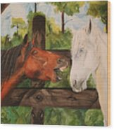 The Horse Whisperers Wood Print