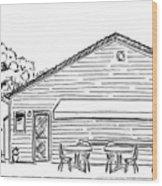 The Hot Dog Factory Wood Print