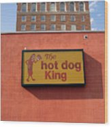The Hot Dog King Wood Print