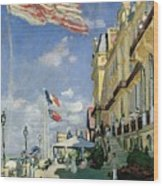 The Hotel Des Roches Noires At Trouville Wood Print