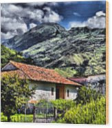 The House In The Valley Wood Print