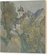 The House Of Dr Gachet In Auvers Sur Oise Wood Print
