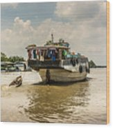 The Houseboat Wood Print