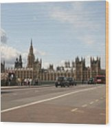 The Houses Of Parliament. Wood Print