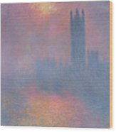 The Houses Of Parliament London Wood Print