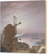 The Hudson River From Hoboken Wood Print by Robert Walter Weir