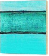 The Hues Blues Wood Print
