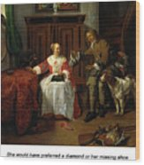The Hunter's Present Wood Print