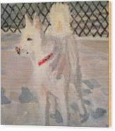 The Husky Wood Print by Danielle Allard