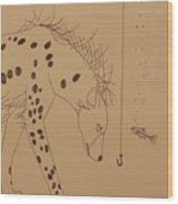 The Hyena Meets The Fish Wood Print