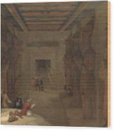 The Hypostyle Hall Of The Great Temple At Abu Simbel Egypt Wood Print