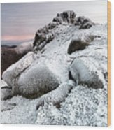 The Ice Queen Returns, North Tor Slieve Bearnagh Wood Print