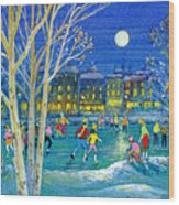 The Iceskaters Wood Print