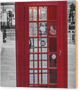 The Iconic London Phonebox Wood Print