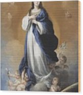 The Immaculate Conception  Wood Print by Bartolome Esteban Murillo